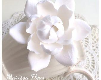 Bridal Hair Fascinator, Bridal Fascinator, Gardenia Hair Clip, Bridal Hair Fascinator, Bridal Hair Accessory, Wedding Hair Clip, Fascinator