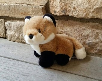 Stuffed plushie fox, A&A Plush toy, vintage 1992