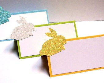 Set of 10 Easter Bunny Spring Rabbit Place Cards