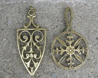 brass trivets kitchen trivets french country kitchen old world style brass trivet pair