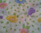 Colorful Floral Print Light Weight Cotton Polyester Blend Fabric 2 Yards X0742