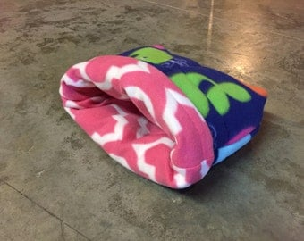 PREMADE Reversible Fleece xl Burrow Bag for Guinea Pig Hedgehog Rat Small Animals
