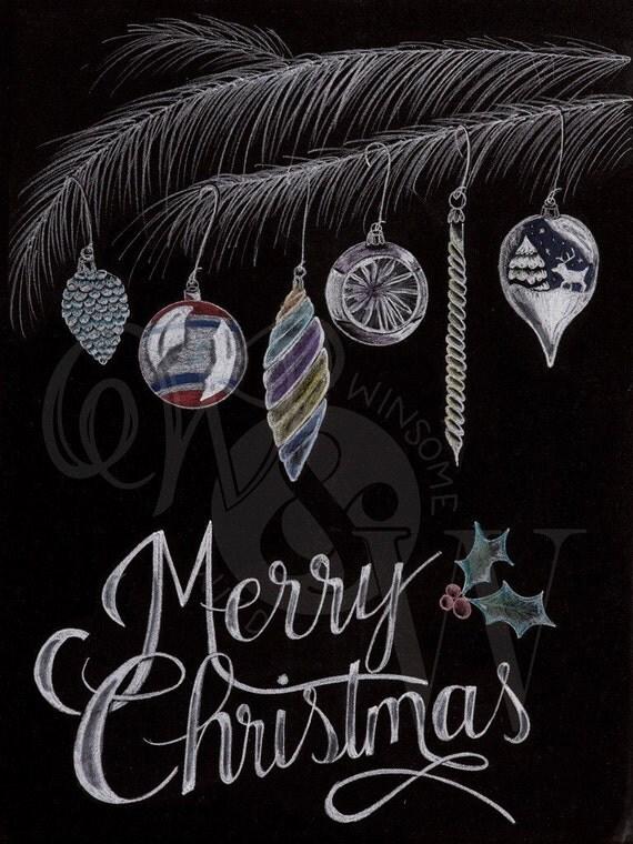 Christmas Ornament Print