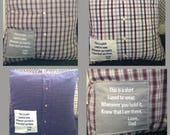 Custom Memory Pillow/ Keepsake Pillow