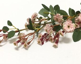 30 Inch PINK Pompon Rose Spray - Artificial Flowers, Silk Flowers, Flower Crowns, Halos, Wedding Crowns, Hair Accessories, Bouquet, Hat
