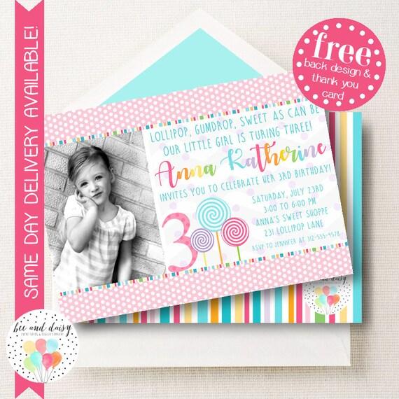 Pastel lollipop invitation lollipop birthday invitation lollipop il570xn filmwisefo