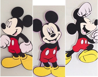 One 7.5 inches full figure Mickey Mouse die cut - perfect for framing - Party decor - 1st Birthday - Disney theme