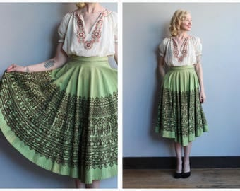 1950s Skirt // Londy of Mexico Circle Skirt // vintage 50s Mexican Skirt