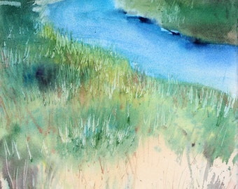 Marsh 2015, limited edition of 50 fine art giclee prints from my original watercolor