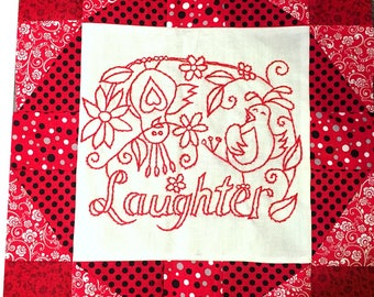 quilt pattern, quilt, quilting, embroidery, pattern, laughter, sewing, redwork, digital pattern