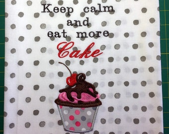 Kitchen Towel - Keep Calm and Eat More Cake