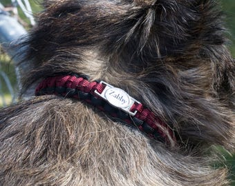 Dog Collar Personalized Pet Collar 550 Paracord Puppy Collar Personalize With Dogs Name