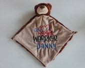 CHD personalized blanket- one day ship, Pick animal wanted- personalized with your child's name