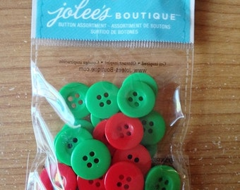 Jolee's Boutique Brand - Buttons - 30 pieces NEW - (#1964) Christmas Buttons