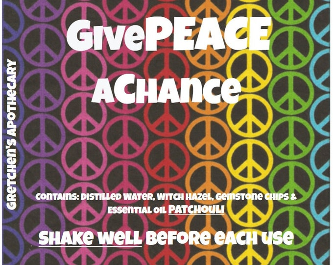 GivePEACEaChance Patchouli Body Spray with Semi Precious Gemstones 4oz
