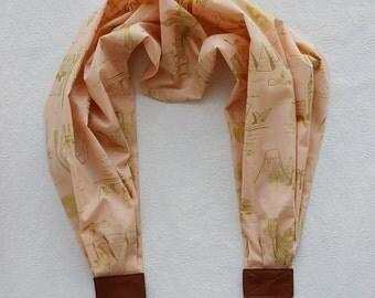 scarf camera strap chic traveler peach blush - BCSCS075