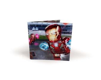LEGO Iron Man - The Avengers Wallet - Upcycled magazine in vinyl - Captain America, Hulk