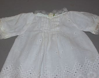 Vintage White Doll Dress Fits Small Size Doll
