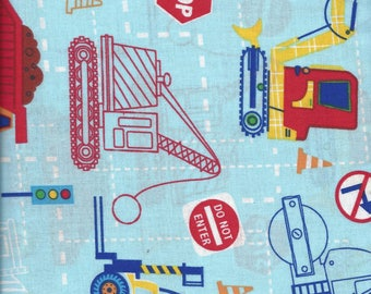Kids Time Road Construction by Choice Fabrics