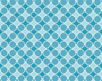 "3 Yards ""Splendor Geometric Blue"" by Riley Blake"