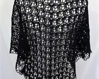 black lace shawl merino cashmere silk