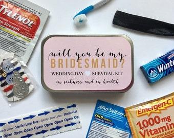 Will You Be My Bridesmaid, Bridesmaid Gift, Bridesmaid Proposal Gift, Bridesmaid Survival Kit, Bridesmaid Sticker, Wedding Survival Kit