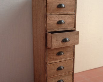 Miniature furniture 1:12 scale chest of drawers
