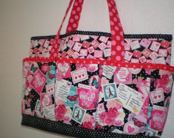 Valentine themed tote