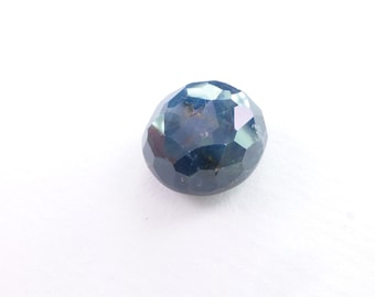 Oval Blue SAPPHIRE. 100% Natural. Blue Unheated / Untreated. Oval Rose Cut. Freeform. Can Be Drilled. Geometric. 19cts. 15x13x8 mm (S2062)