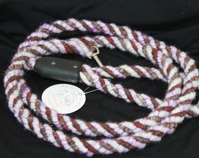 Dog Leash- Handcrafted- Alpaca-Wool and other natural Fibers - DL-02