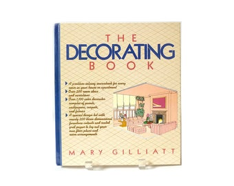 Vintage The Decorating Book By Mary Gilliatt Hardcover 1980s Home Decor