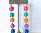 Bon Drop Earrings // 5 tier with a hook // Fiesta // Custom Color Combinations Available