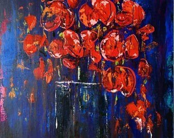 Oh Poppy - Hand Painted Original Acrylic on Canvas