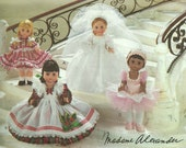 "Doll Clothing Pattern 8"" Doll, Madame Alexander Vogue 8709"