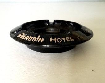 Vintage Aladdin Hotel Casino Ashtray -  Ash Tray, Las Vegas, Gambling, Poker Night, Man Cave Decor