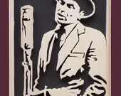 Frank Sinatra Hand Cut Wood Picture