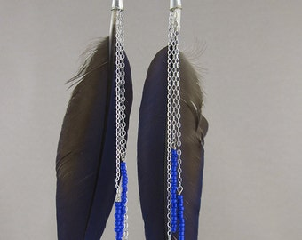 SALE! Parrot Feather earrings (447)