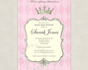 Royal Princess Baby Shower - You-Print Digital Invitation