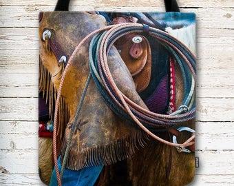 Cowboy Tote Bag, Cowgirl Tote Bag, Tools of the Trade, Western Tote Bag, Country Tote Bag, Country Life, Ranch Life, Rodeo Tote Bag