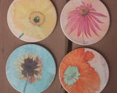 Mixed Flowers Sandstone Coasters