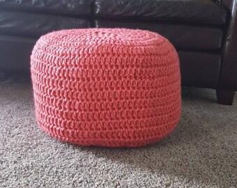Floor pouf, crochet ottoman, baby nursery foot stool, crochet floor pouf, floor pillow