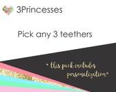 Teether baby teethe 3 pack for teething babies