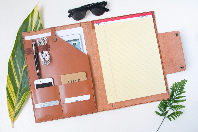 resume Leather Folder For Resume leather portfolio etsy legal pad document folder personalized holder custom a4 portfolio