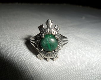 Vintage Turtle Sterling Silver Ring Size 8.75