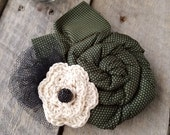 Necktie Flower Pin - Memorial Keepsake - Repurposed Ties - Custom Listing