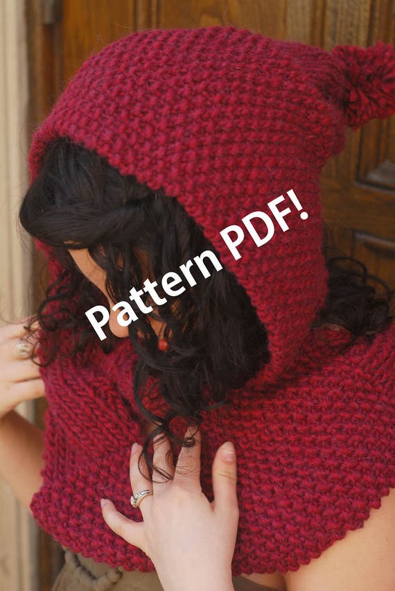 All Wrapped Up Reversible Cabled/Hooded Scarf: PDF Knitting Pattern by The Sexy Knitter