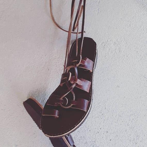 SALE SIZE 37 / Leather gladiators, greek leather sandals