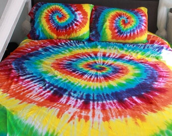 Tie dye Duvet/Comforter Cover King upcycled