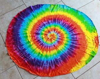 Tie Dye Round Tablecloth 46 Inch