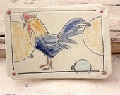 Ceramic Stoneware Soap Dish with Rooster